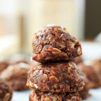Healthy No Bake Cookies with Coconut