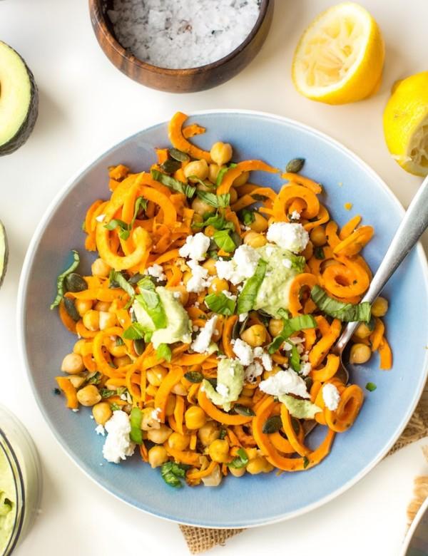 Mediterranean Sweet Potato Noodles