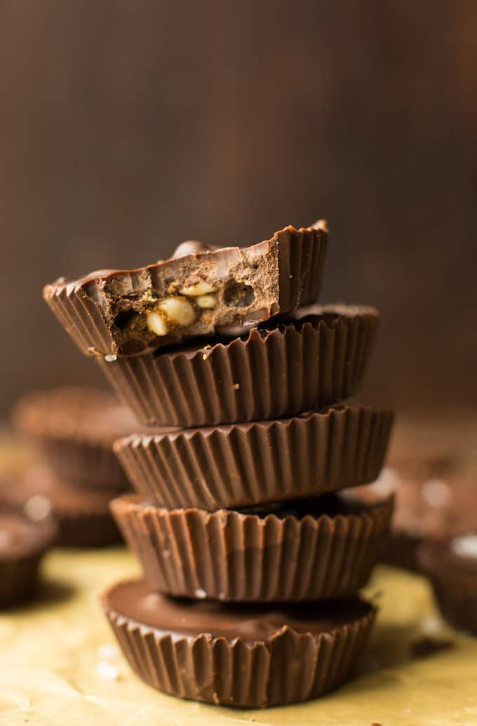 Peanut Butter Crunch Chocolate Cups