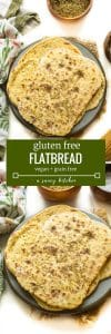 Super easy gluten free flatbread - made with only six ingredients! Grain Free + Vegan