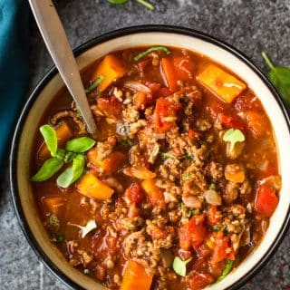 Italian Style Instant Pot Beef Chilli