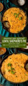Moroccan Spiced Vegan Shepherd's Pie pin graphic
