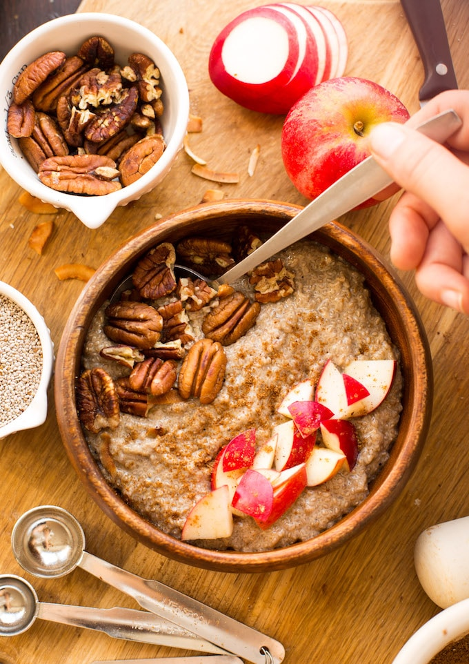 warm chai chia pudding a saucy kitchen