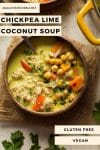 chickpea lime coconut soup pin graphic