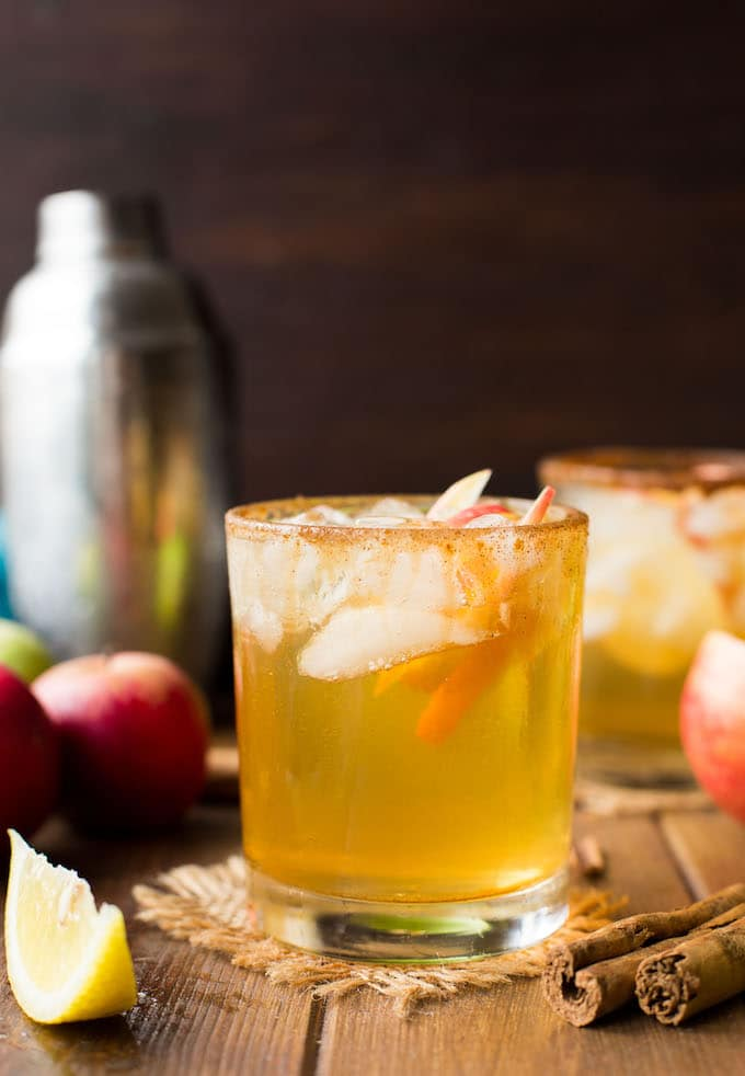 Sweet and simple Apple Margaritas with a star anise spiced simple syrup – the perfect cocktail to make yourself this fall!