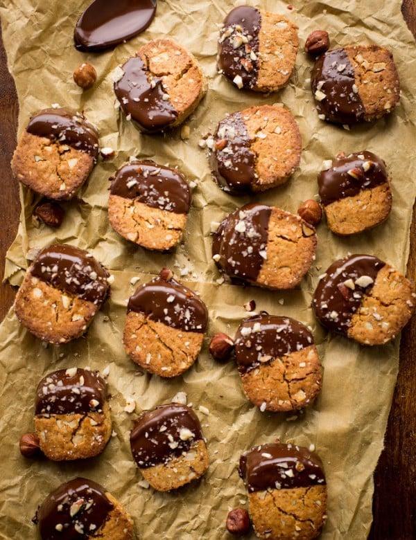 Grain Free Chocolate and Hazelnut Slice and Bake Cookies