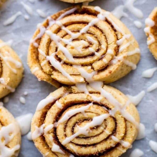 Grain Free Cinnamon Roll Cookies