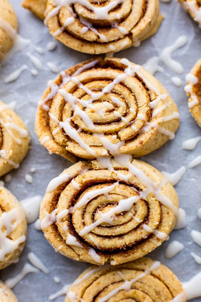 Grain Free Cinnamon Roll Cookies