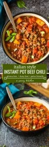 Italian Style Instant Pot Beef Chil