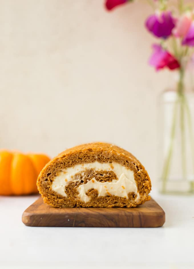 Paleo Pumpkin Roll - A Saucy Kitchen