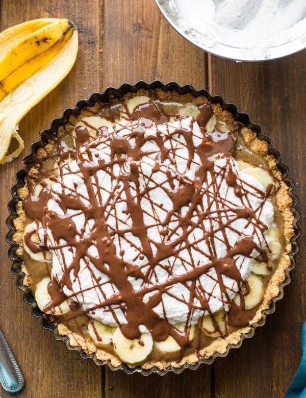 Paleo + Vegan Banoffee Pie