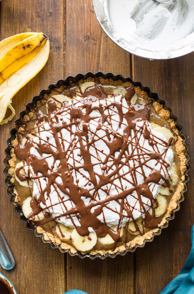 Paleo + Vegan Banoffee Pie