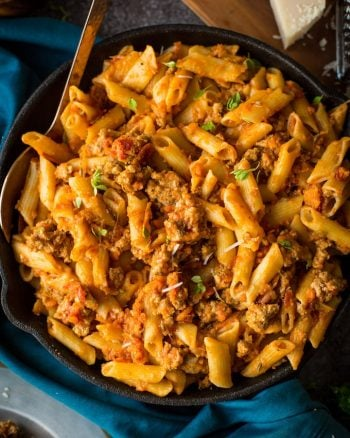 Quick Pork Ragu with Penne