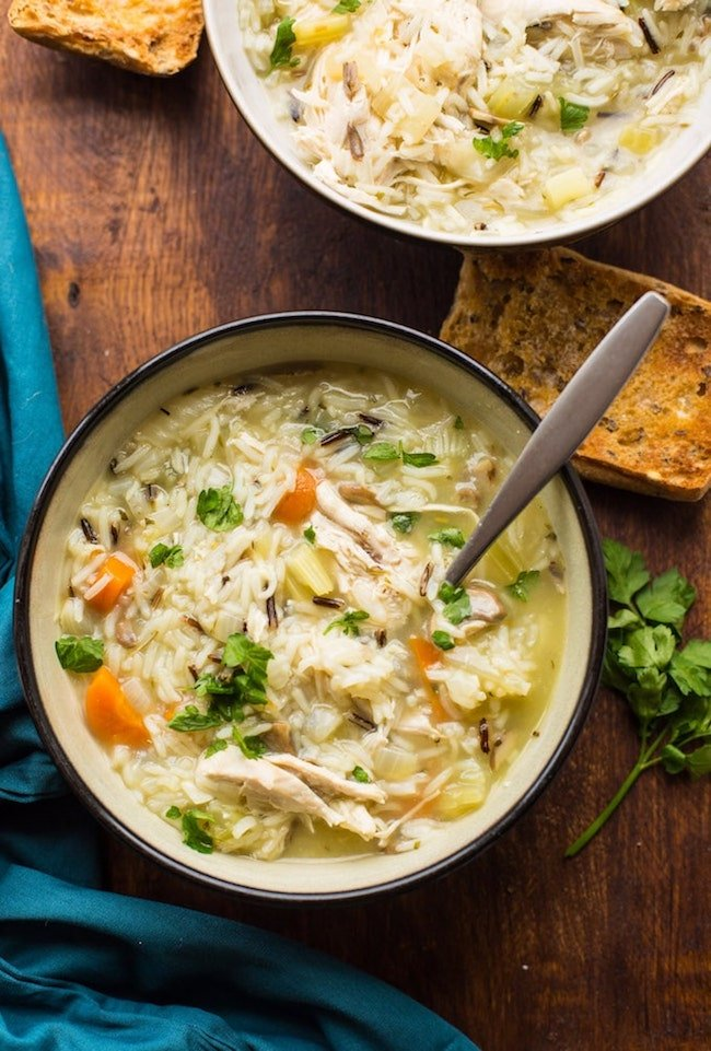 Instant Pot Chicken & Wild Rice Soup