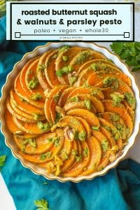 roasted butternut squash slices pin grpahic
