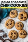 paleo chocolate chip cookies pin graphic