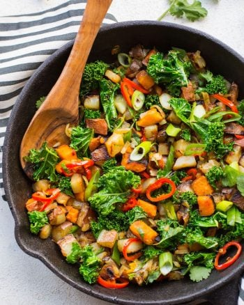 Spicy Kale Potato Breakfast Hash