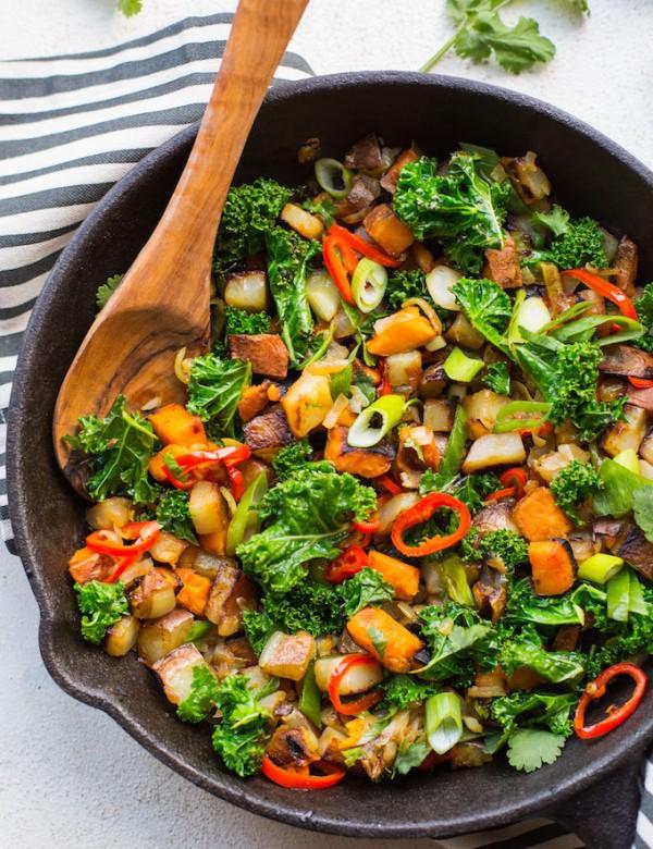 Spicy Kale Potato Breakfast Hash