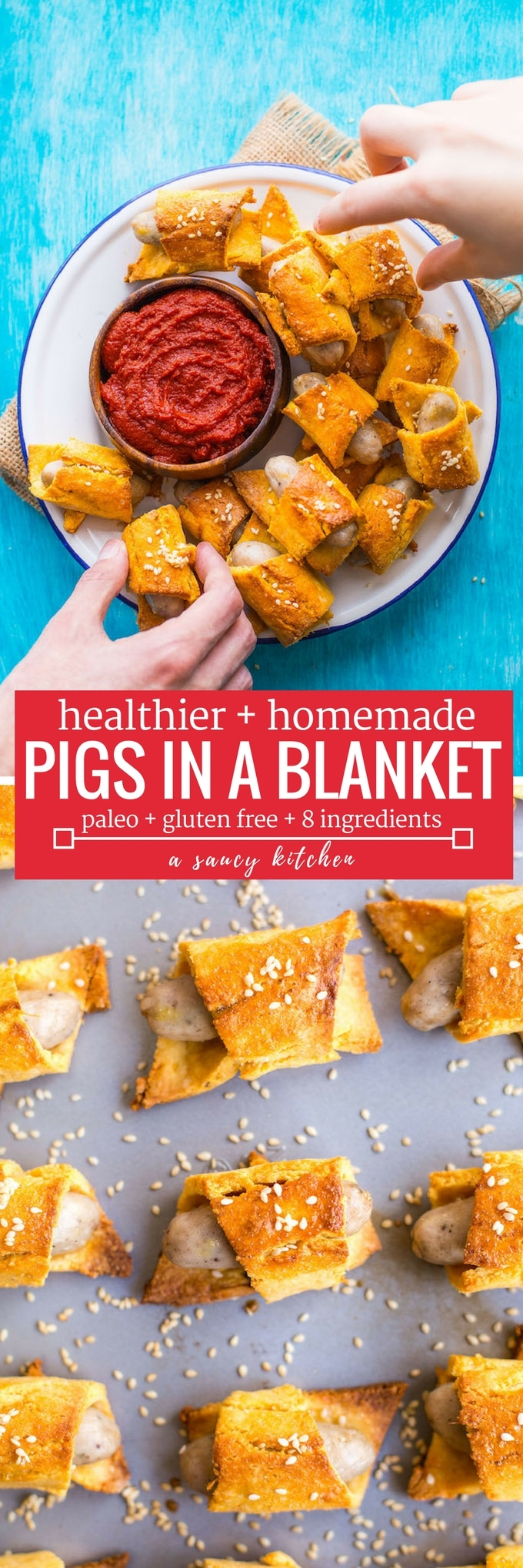 homemade pigs in a blanket pinterest graphic