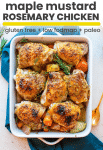 maple mustard chicken with rosemary pin graphic