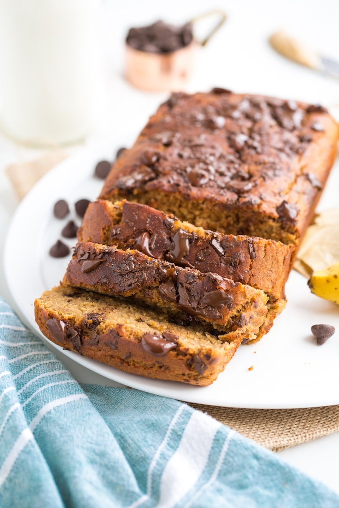 Chickpea Flour Vegan Banana Bread sliced