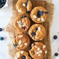 Paleo + Vegan Blueberry Muffins