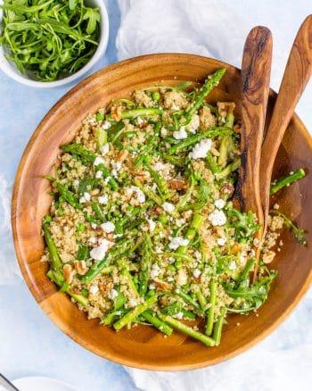 Spring Quinoa Pea & Asparagus Salad