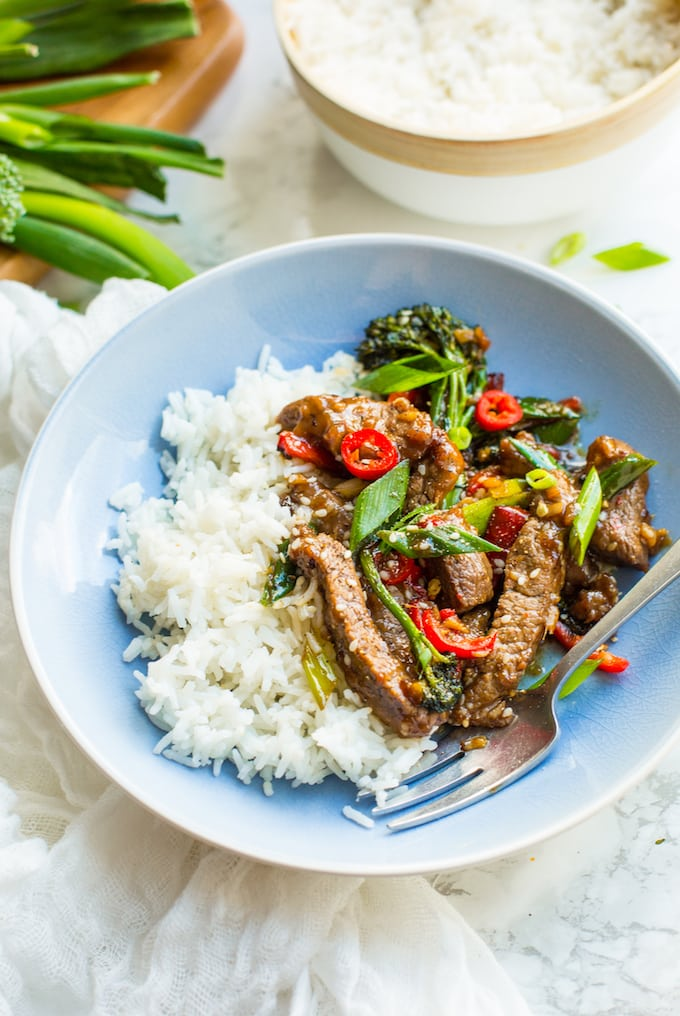 how to cook stir fry beef in a pan