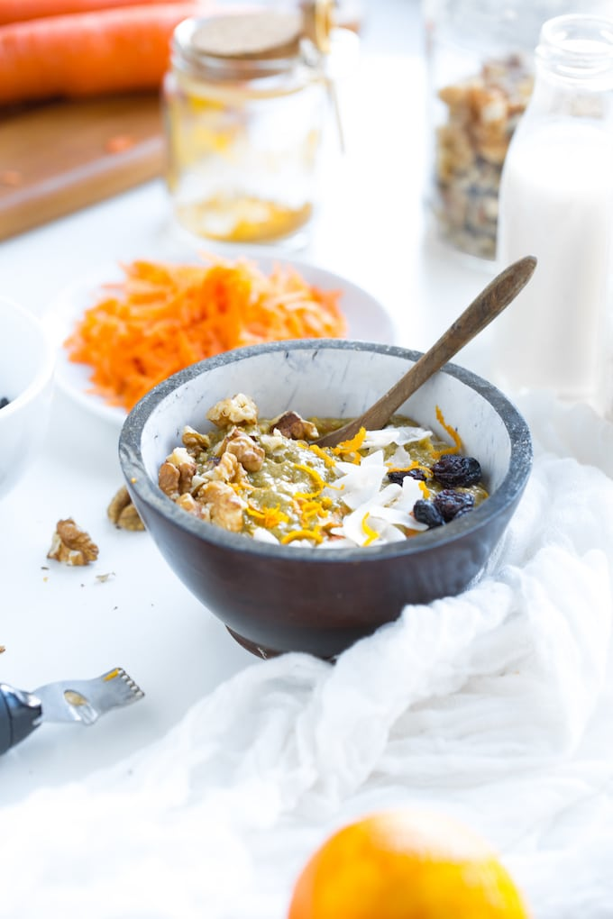 Turmeric Carrot Chia Pudding