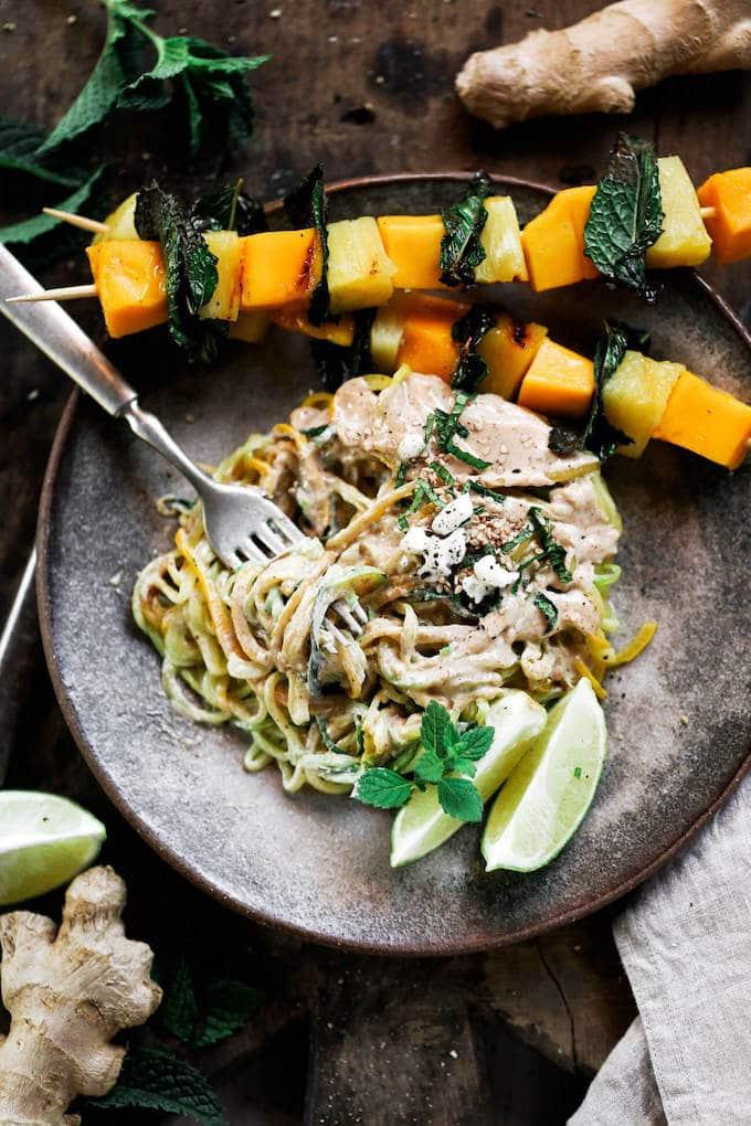Paleo Gluten Free Sesame Gigner Zucchini Noodles