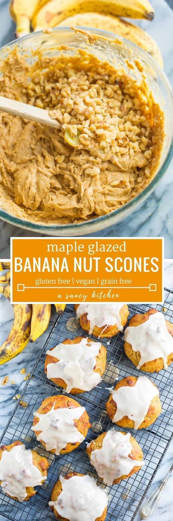 Banana Nut Scones Pinterest Graphic