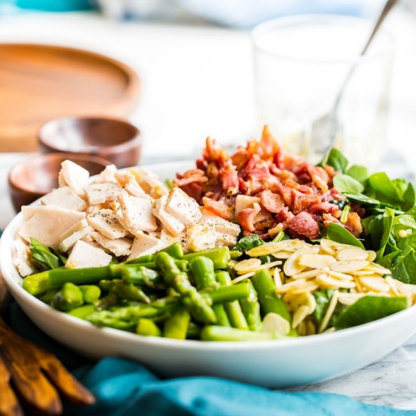 Chicken Bacon Spinach with Asparagus