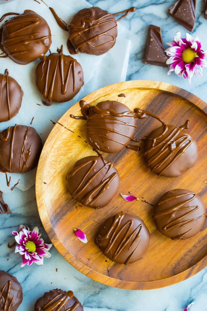 Homemade Coconut Peppermint Patties on a plate