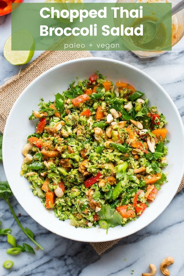 Chopped Broccoli Salad pinterest graphic