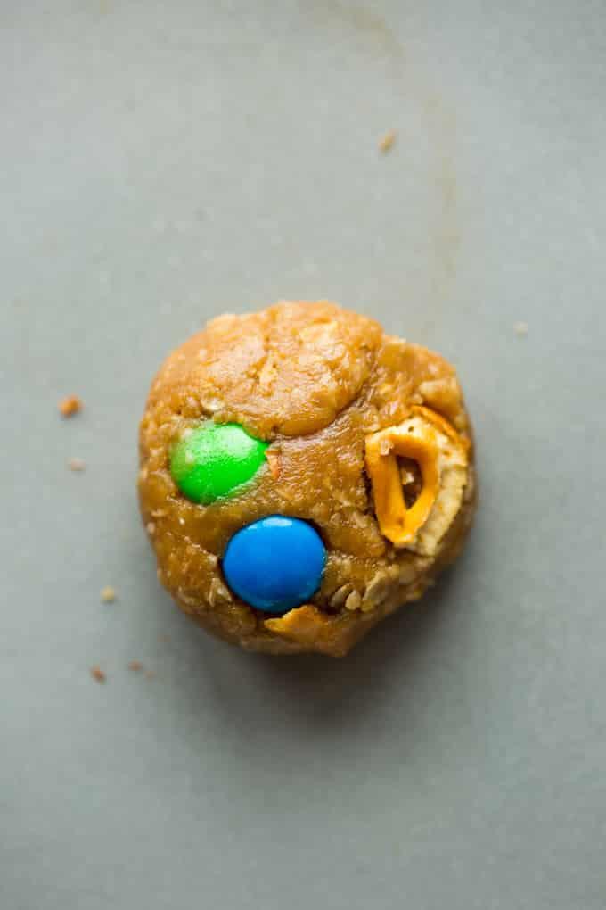 Peanut Butter Monster Cookies dough