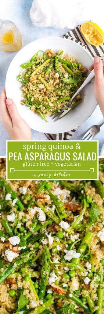 spring quinoa pea and asparagus salad pinterest long pin