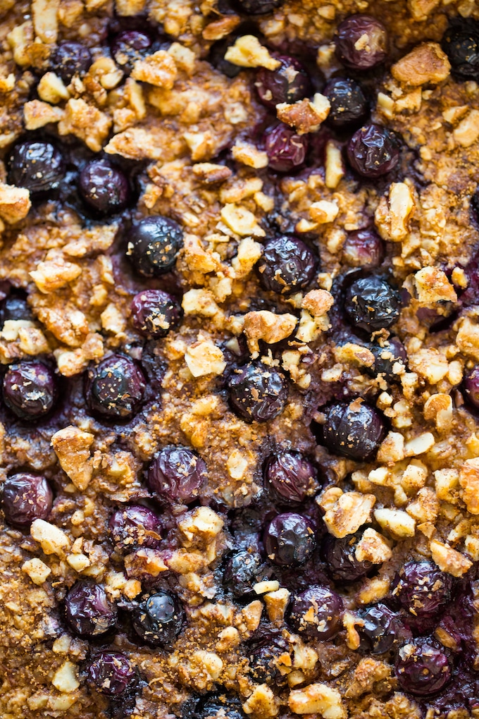 Blueberry Oatmeal Bake up close