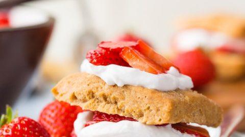 Gluten Free Vegan Strawberry Shortcake