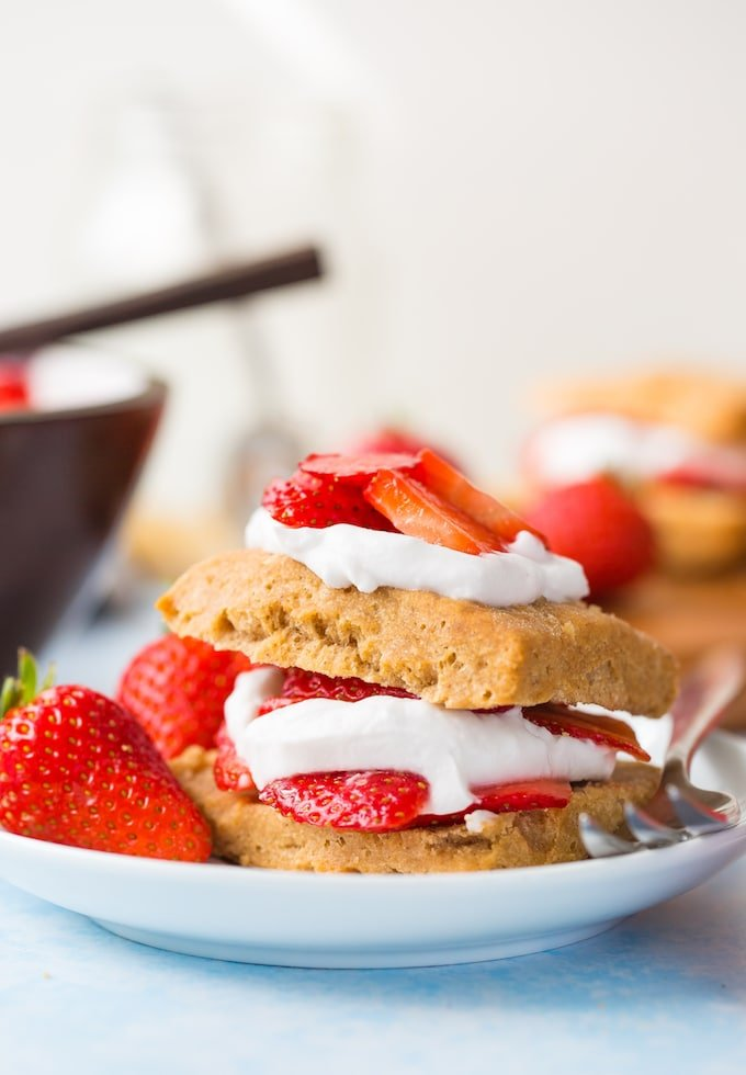 Gluten Free Vegan Strawberry Shortcake