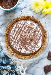 Vegan Chocolate Mousse Pretzel Crust Pie