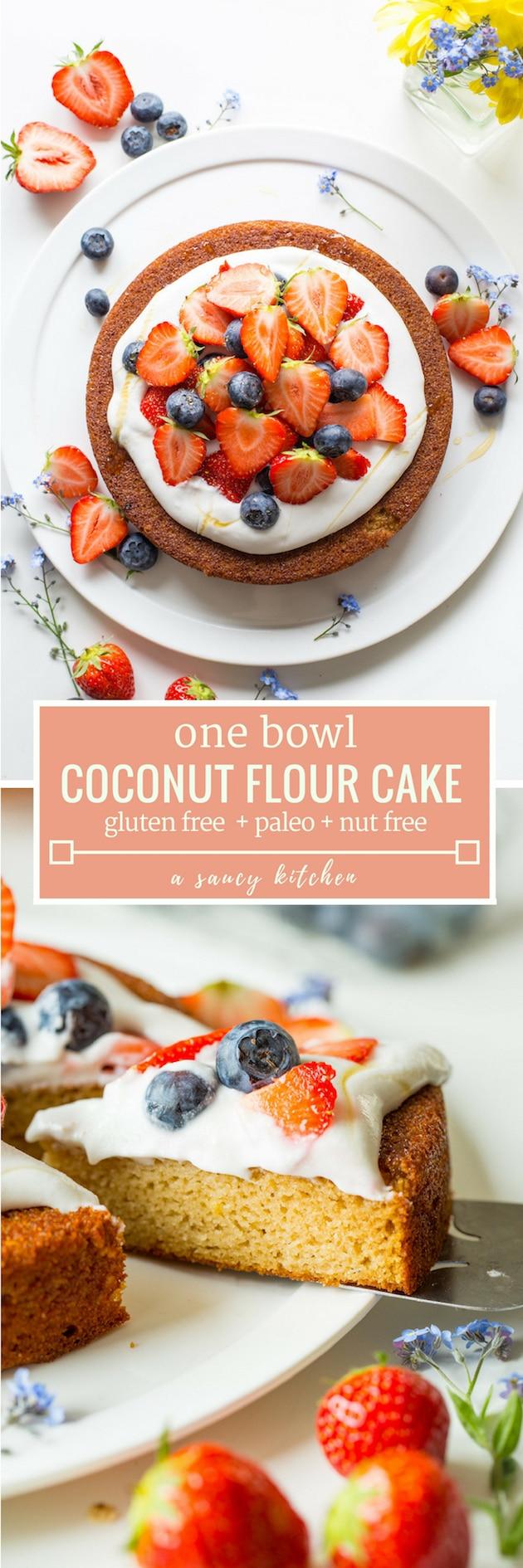 coconut flour cake pin graphic