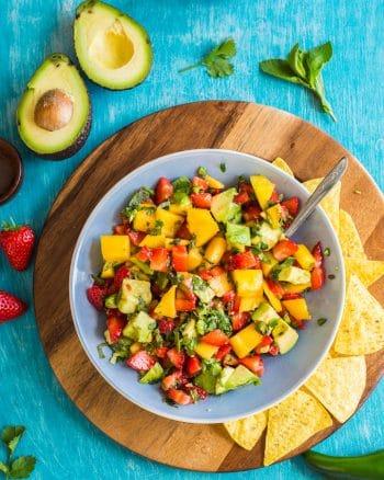 Spicy Avocado Strawberry Mango Salsa