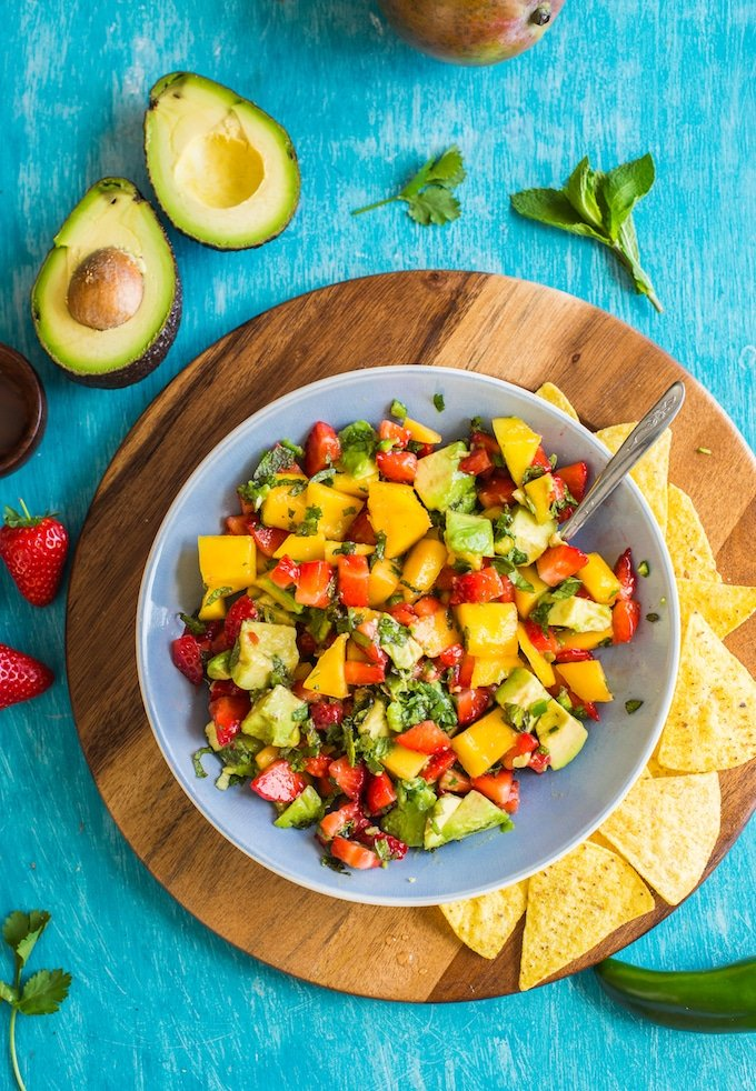 Spicy Avocado Strawberry Mango Salsa