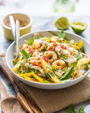 Mango & Shrimp Thai Noodle Salad