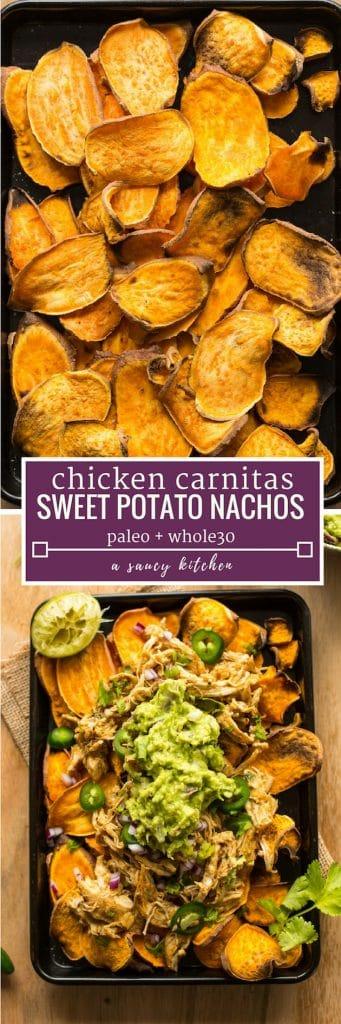 chicken carnitas sweet potato nachos pinterest grpahic