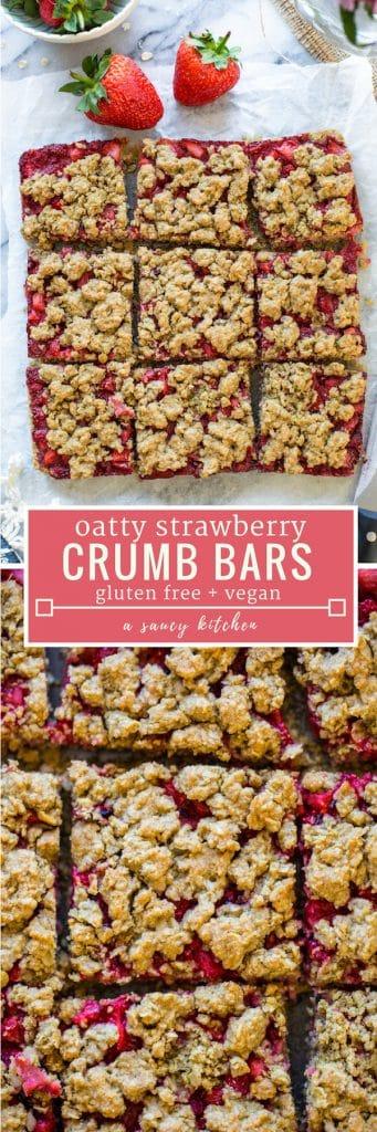 strawberry crumb bars pinterest graphic