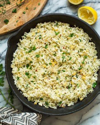 Mediterranean Cauliflower Rice – Paleo + Vegan