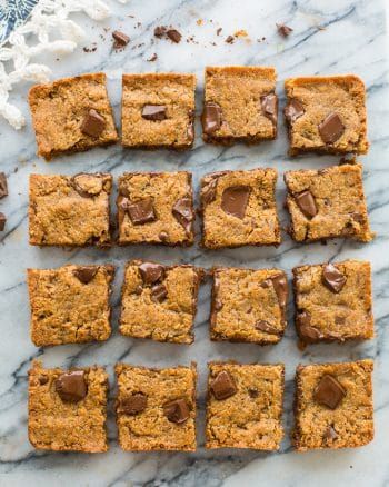 Chocolate Chunk Paleo Vegan Blondies