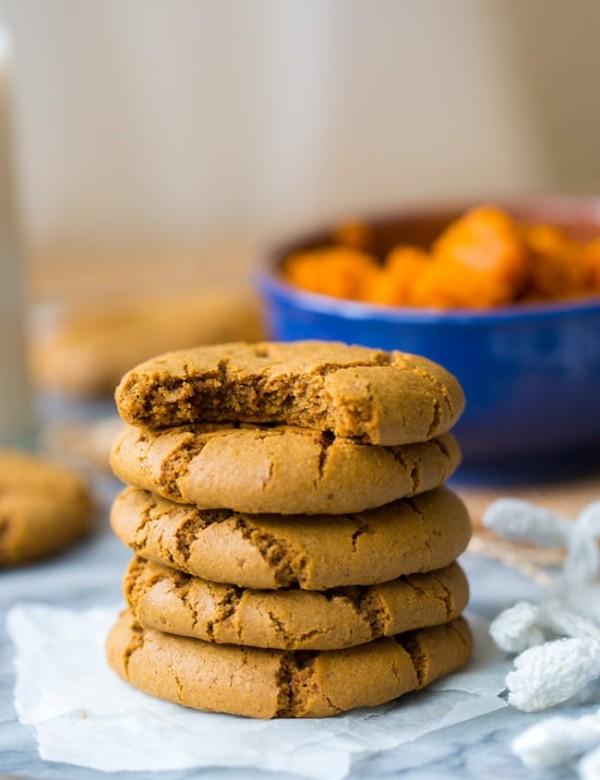 stack of Paleo Pumpkin Cookies