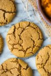 Paleo Pumpkin Cookies on a marble background